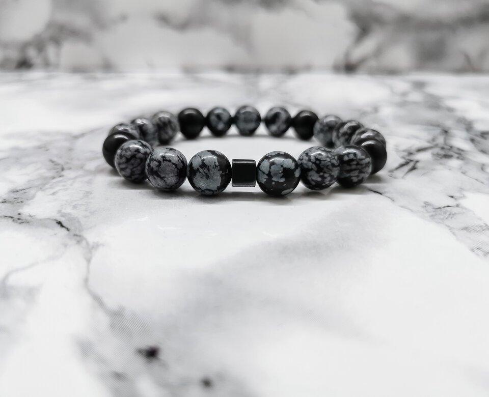 Obsidiano apyrankė