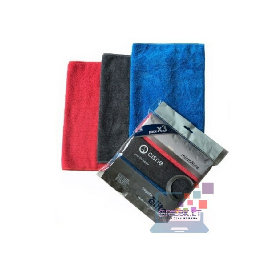 Mikropluošto universalios šluostės ELITE, 30x40cm (3vnt.)