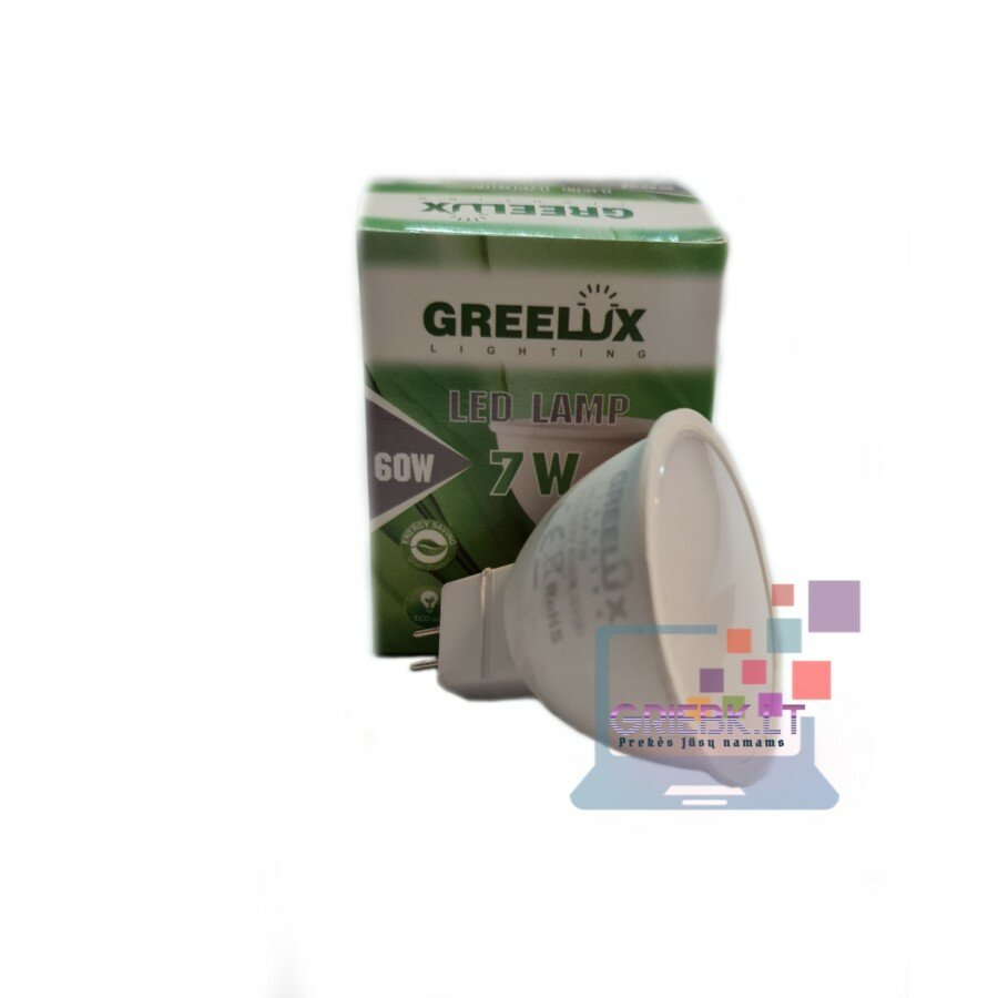 LED lemputė MR16 220V 7W Greelux