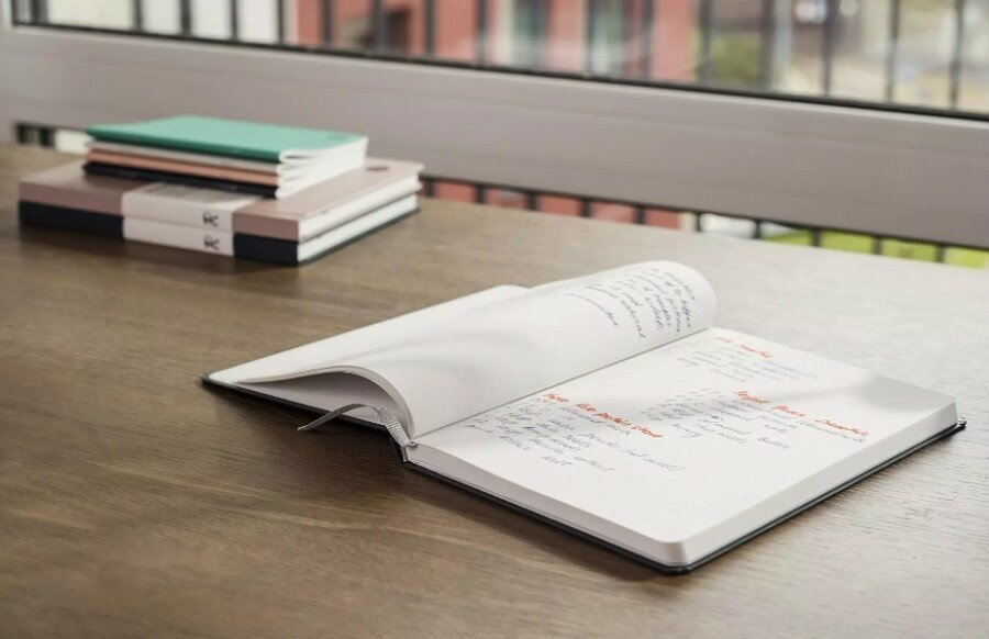 Akmens popieriaus kieto viršelio užrašų knygutė A5