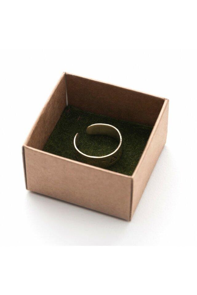 Kalstytas, žalvarinis žiedas, 20mm.
