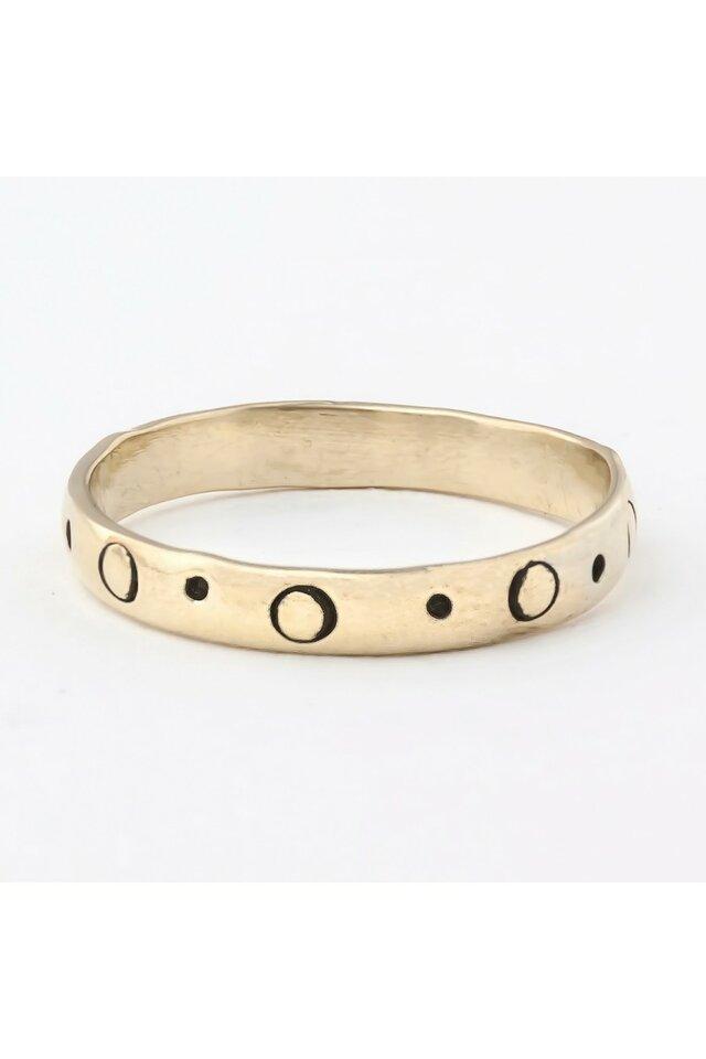 Kalstytas, žalvarinis žiedas, 20,5mm.